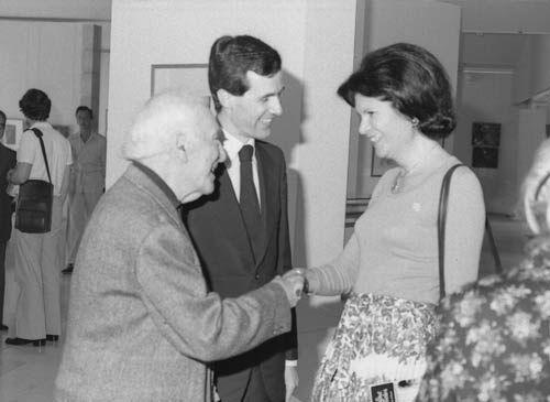 Marc Chagall avec Colette Bonnavia Pariente (1978)