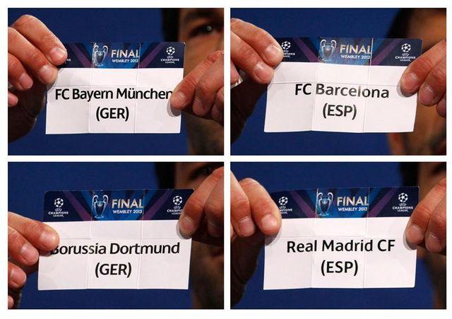deux affiches de prestige pour les demi-finales de la ligue des champions