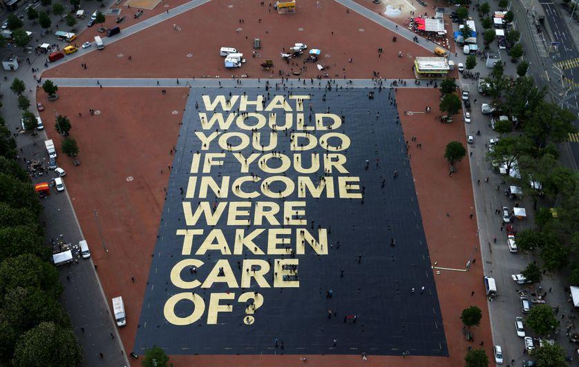 Affiche en faveur du revenu de base à Genève (mai 2016)