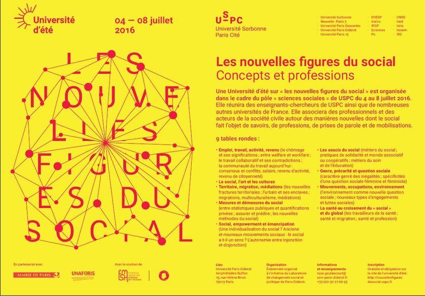"""Université d'été """"Les nouvelles figures du social"""", Université Paris-Diderot"""