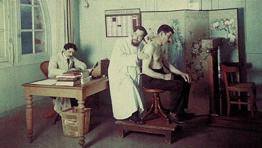 soins et diagnostic de la tuberculose en 1903