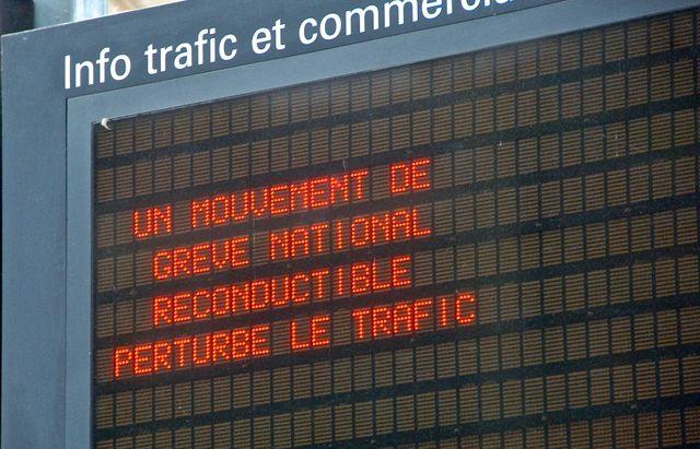 Mouvement de grève à la SNCF