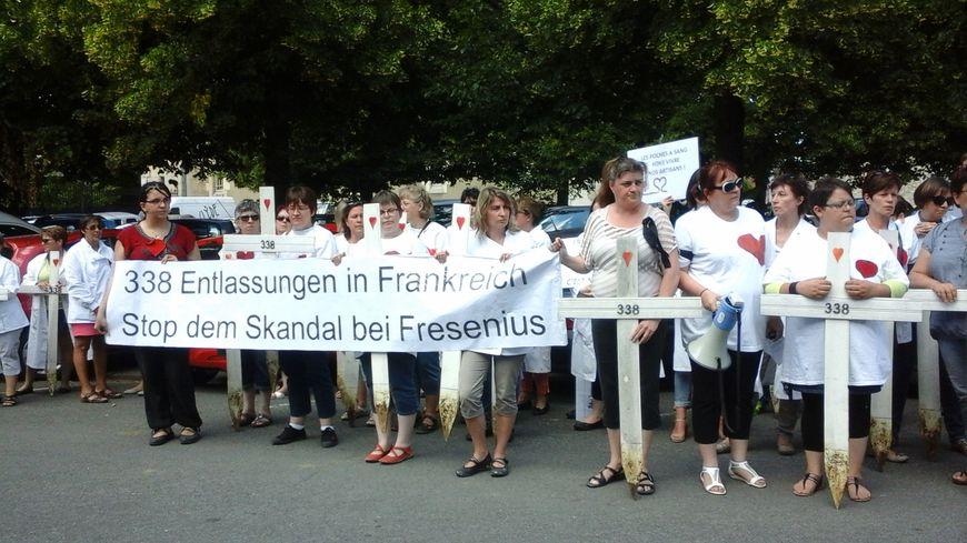 Les salariés se sont mobilisés jusqu'en Allemagne