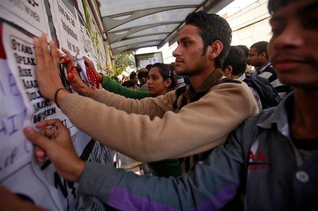 mouvement de colère et d'indignation en inde