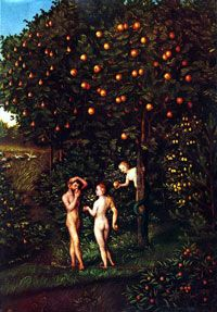 L'Arbre de la connaissance du bien et du mal / Lucas Cranach l'Ancien