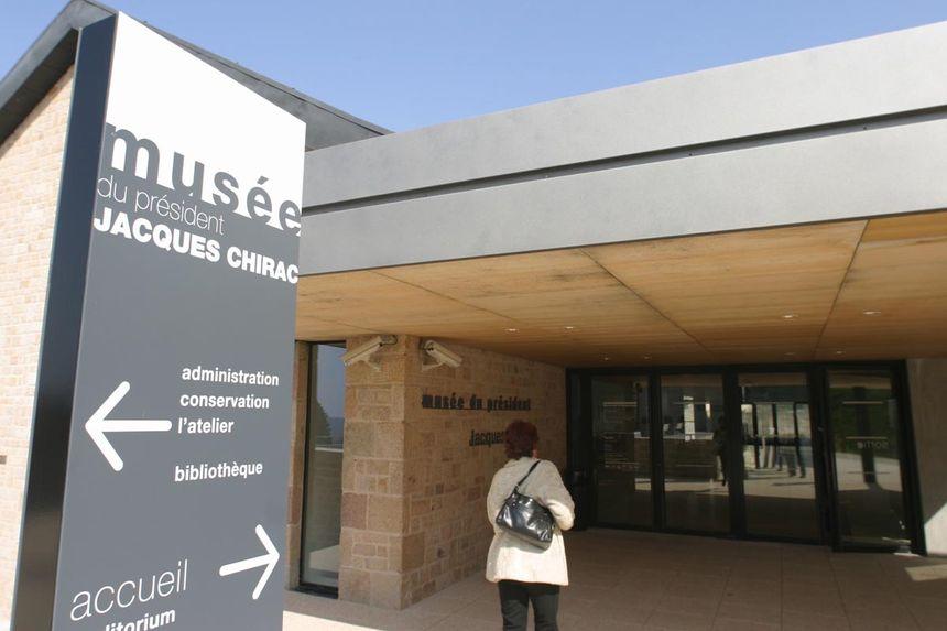 L'entrée du musée du président Jacques Chirac à Sarran.