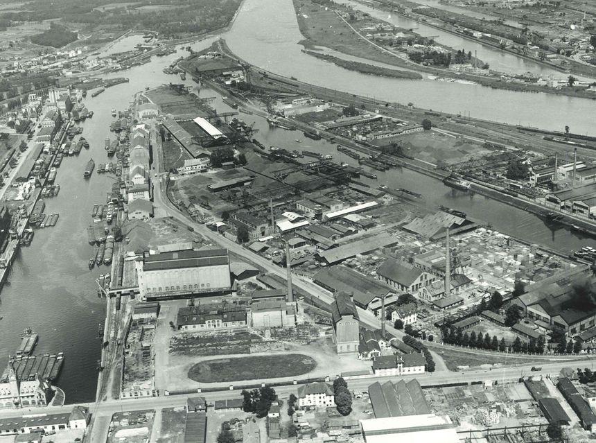 Le Port autonome de Strasbourg en 1949
