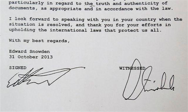 snowden écrit aux allemands pour leur demander leur soutien