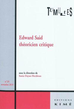 Edward Saïd, théoricien critique