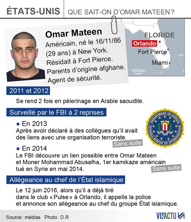 Infographie : que sait-on d'Omar S. Mateen
