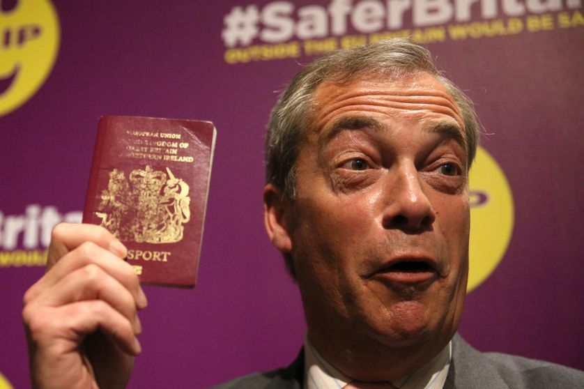 Nigel Farage, dirigeant du United Kingdom Independence Party (UKIP)