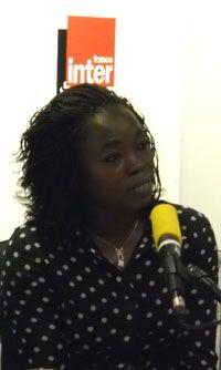Fatou Diome dans notre studio à France Inter