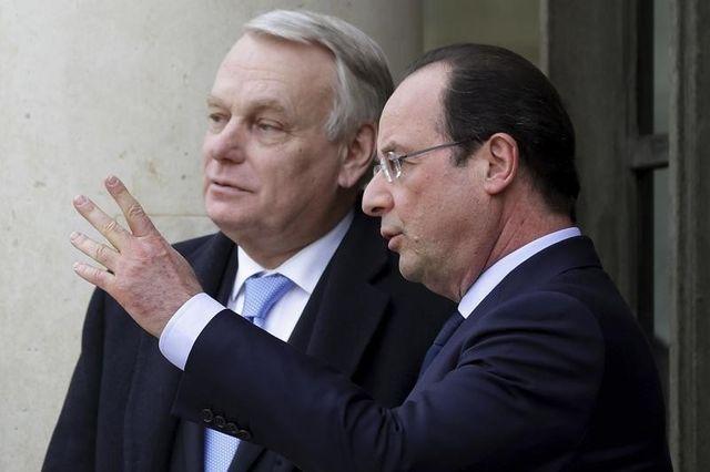 françois hollande et jean-marc ayrault évoquent l'après-municipales