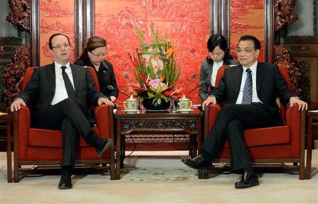 françois hollande rencontre le premier ministre chinois