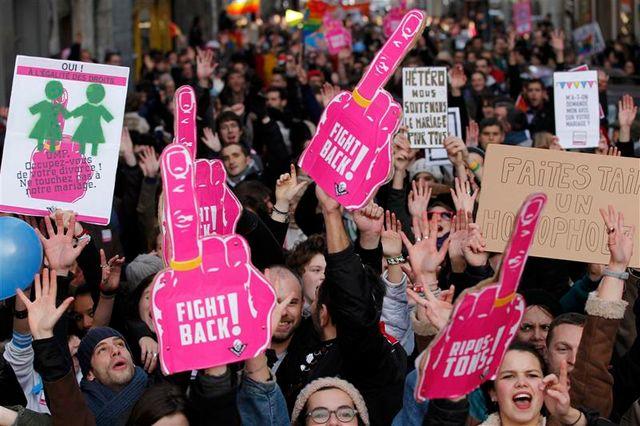 week-end de mobilisation pour les partisans du mariage homosexuel