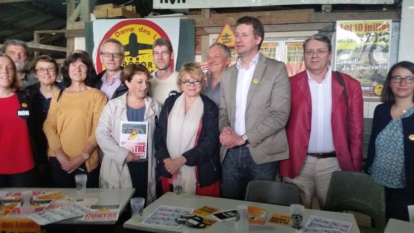 Une délégation d'élus de gauche et d'écologiste en soutien au 'non'