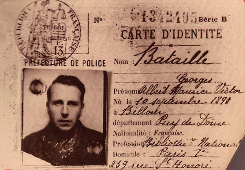 Carte d'identité de Georges Bataille en 1940