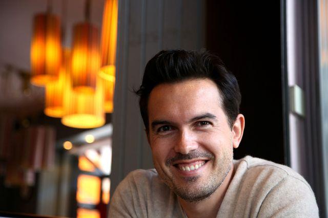 L'écrivain Maxime Chattam, 5 juin 2014, Paris.