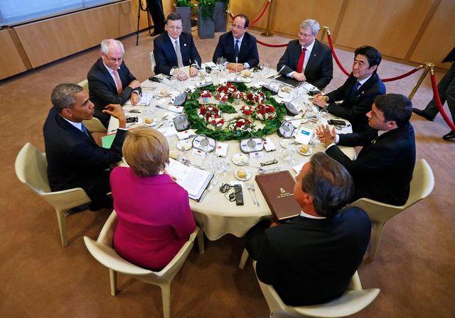 le g7 n'exclut pas de nouvelles sanctions contre moscou au sujet de l'ukraine
