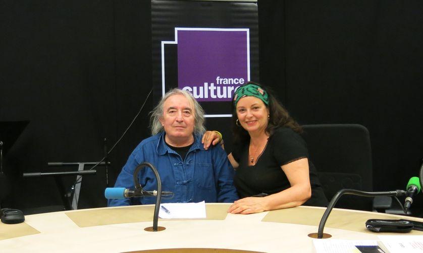 France Culture, studio 108... le poète Serge Pey & la productrice Aline Pailler