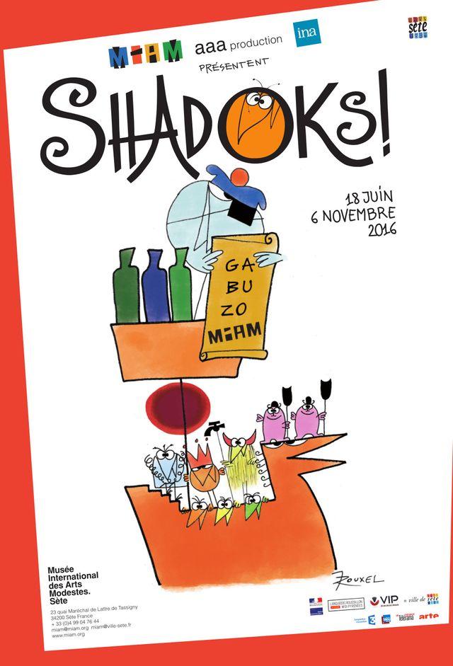 Affiche de l'Expo Shadoks à Sète