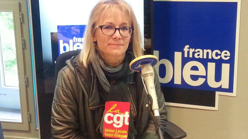 Magalie Badiou de la CGT à Saint-Etienne