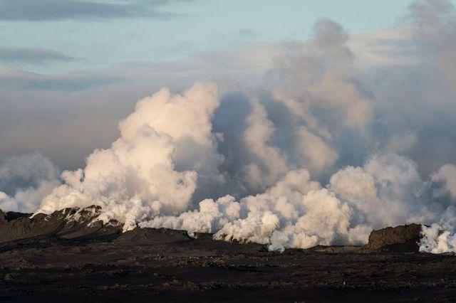 alerte rouge en islande en raison de l'éruption du volcan bardarbunga