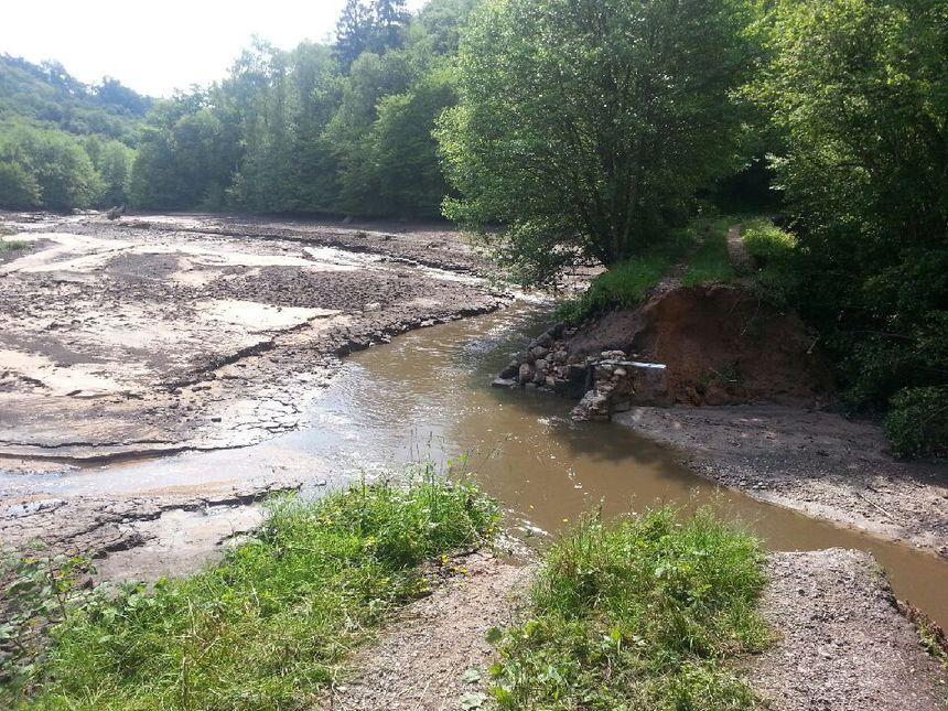 Il y avait une digue, ici, avant les inondations