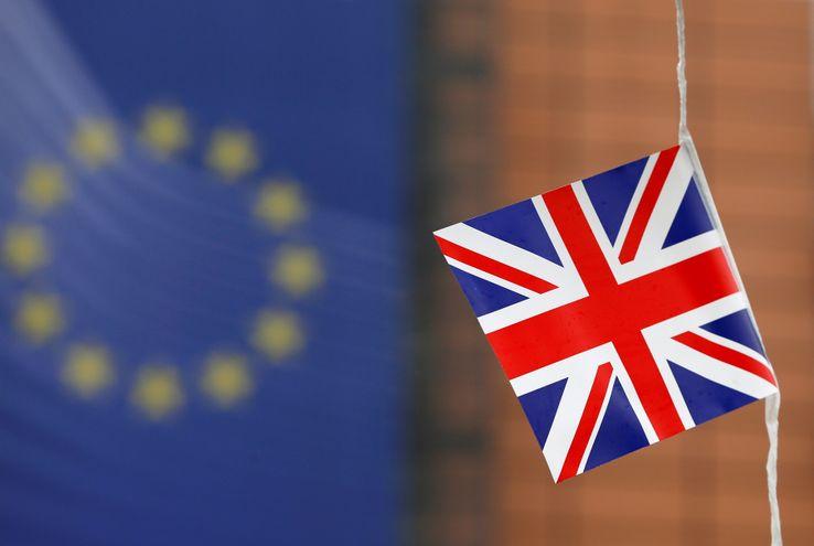 L'Union Jack flotte devant la Commission européenne