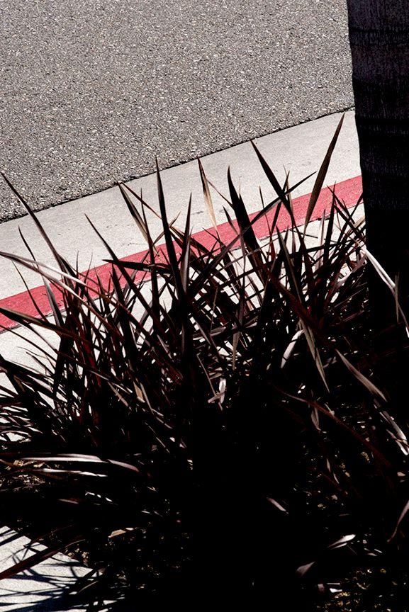 Trottoir et bande rouge, Vertical Horizon © Ralph Gibson