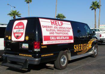 La camionette du shérif Joe Arpaio