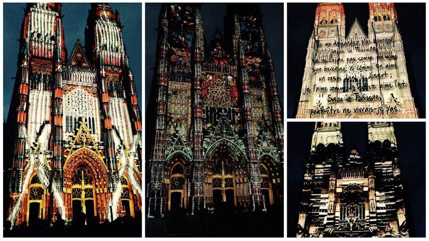 Son et lumière sur la cathédrale de Tours.