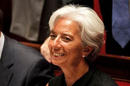 christine lagarde nomme à la tête du fmi