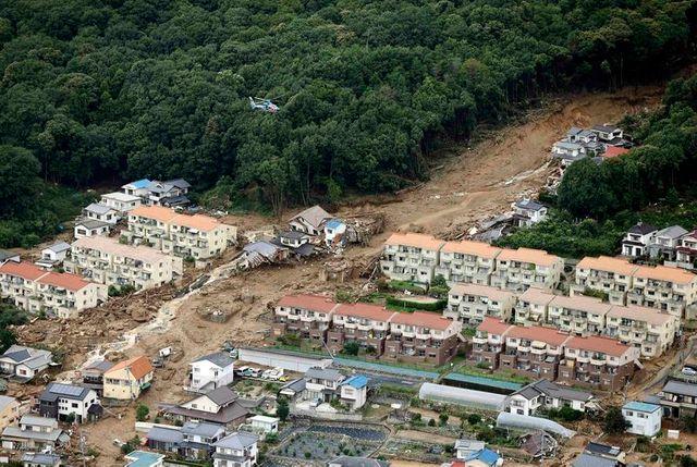 glissements de terrain au japon
