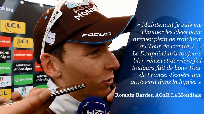 Romain Bardet confiant après sa 2e place au général du Dauphiné 2016