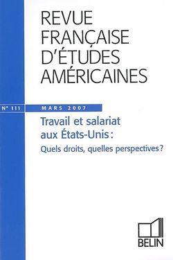 Revue française d'études américaines n°111