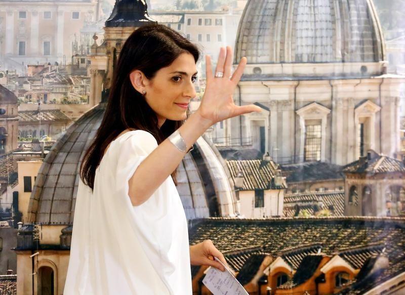 La nouvelle maire de Rome Virginia Raggi, du mouvement 5-Etoiles.