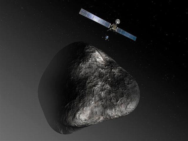 la sonde spatiale rosetta réveillée pour chasser la comète