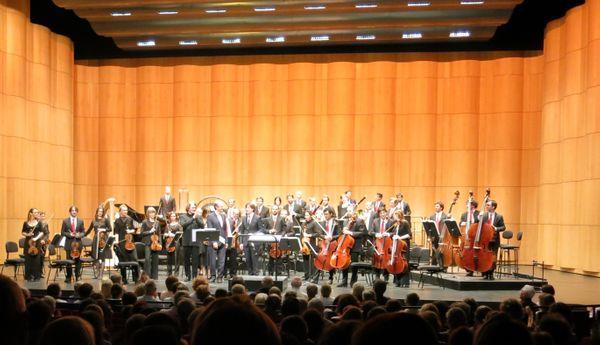 Salle comble !!! à l'Opéra de Rouen le 10 juin 2016, lors de la création de Laurent Lefrançois, compositeur & réalisateur de Sacrées Musiques ©Annick Haumier-Radio France