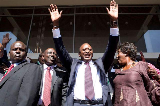 uhuru kenyatta proclamé vainqueur de la présidentielle au kenya