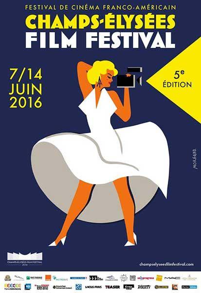 """Affiche """"Champs Elysées Film Festival"""" 2016"""