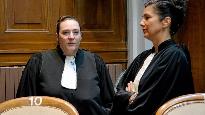Maitre Armand (défense) et Maitre Lobier-Tupin (partie civile)
