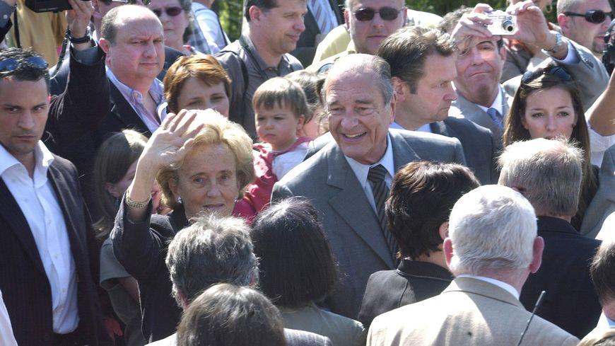 Bernadette et Jacques venus voter au premier tour des élections présidentielles 2007 à Sarran.