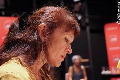 """Nancy Huston sur le plateau de la dernière émission avec """"Cosmopolitaine"""""""