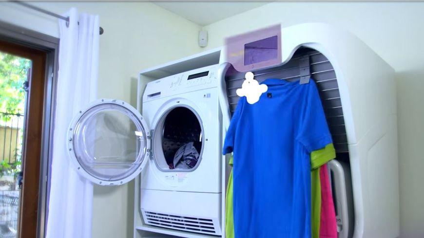 l 39 oeil du web publicit sur internet une machine plier le linge. Black Bedroom Furniture Sets. Home Design Ideas