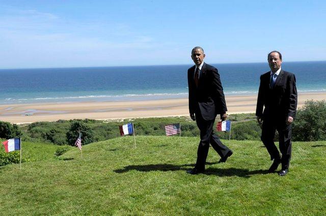 """françois hollande et barack obama donnent le coup d'envoi des cérémonies du """"d-day"""""""