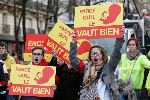 mobilisation des militants anti-avortement à paris