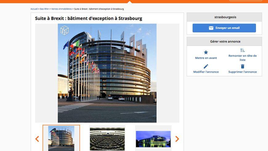 Capture écran de l'annonce sur leboncoin