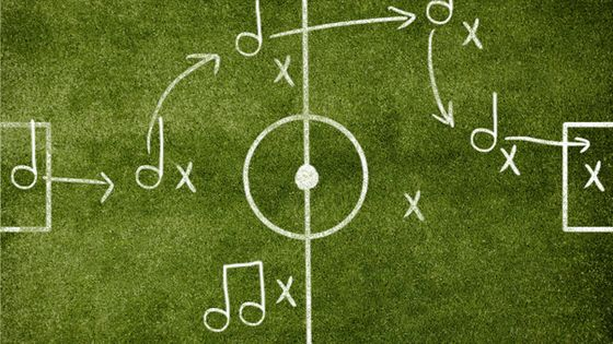 visuel football et musique