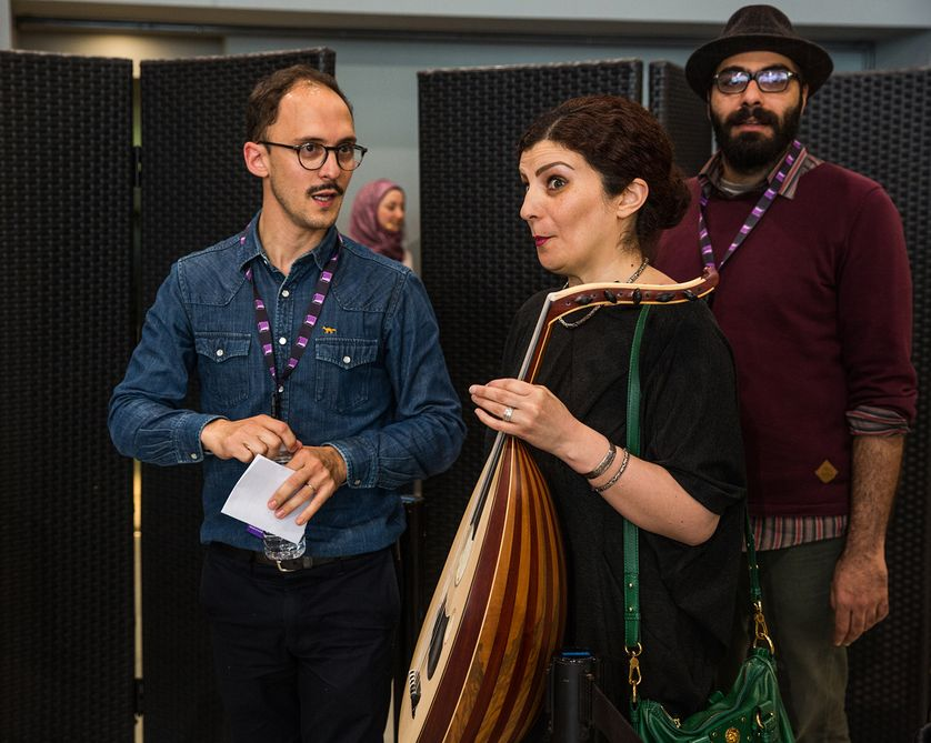 Mathieu Conquet, Waed Bouhassoun et Hamid Sulaiman